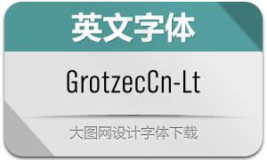 GrotzecCond-Light(英文字体)