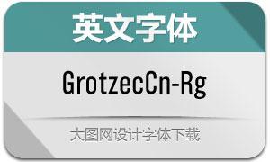 GrotzecCond-Regular(英文字体)
