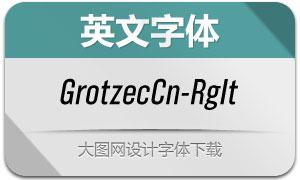 GrotzecCond-RegularIt(英文字体)