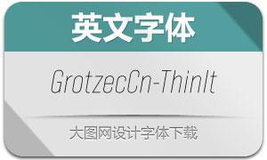 GrotzecCond-ThinItalic(英文字体)