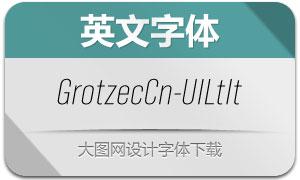 GrotzecCond-UltralightIt(英文字体)