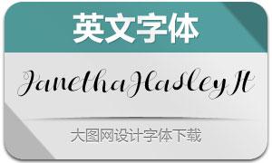 JanethaHasley-Italic(英文字体)