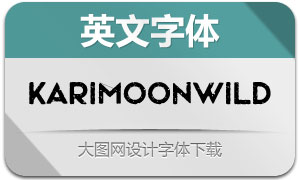 KarimoonWild(英文字体)