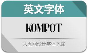 Kompot(英文字体)