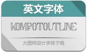 KompotOutline(英文字体)