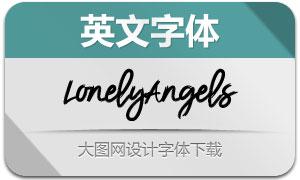 LonelyAngelsBrushFont(英文字体)