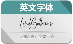LordBolleans(英文字体)