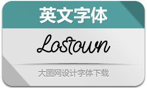 Lostown-Regular(英文字体)