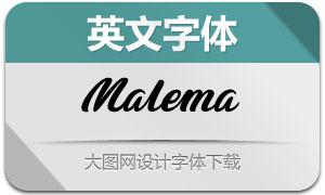 Malema(英文字体)