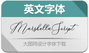MarshellaScript(英文字体)