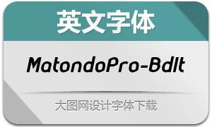 MatondoPro-BoldItalic(英文字体)