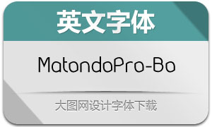 MatondoPro-Book(英文字体)