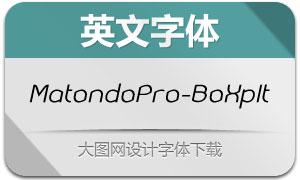 MatondoPro-BookExpIt(英文字体)
