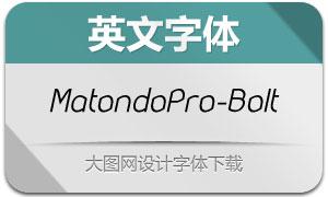 MatondoPro-BookItalic(英文字体)