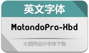 MatondoPro-ExtraBold(英文字体)