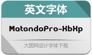 MatondoPro-XBdExp(英文字体)