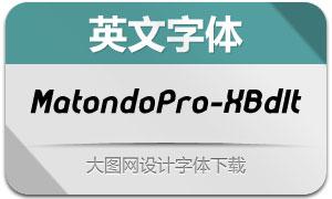 MatondoPro-XBdIt(英文字体)