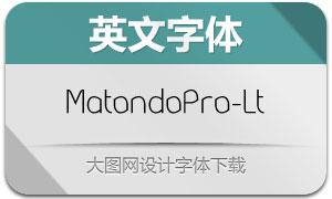 MatondoPro-Light(英文字体)