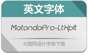 MatondoPro-LightExpIt(英文字体)