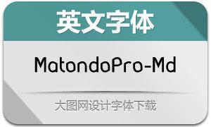 MatondoPro-Medium(英文字体)