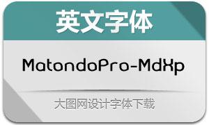 MatondoPro-MdExp(英文字体)