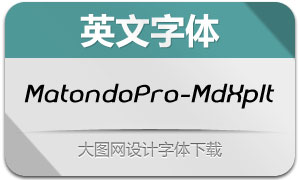 MatondoPro-MdExpIt(英文字体)