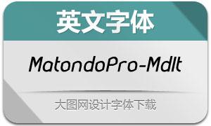 MatondoPro-MediumIt(英文字体)