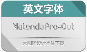 MatondoPro-Outline(英文字体)