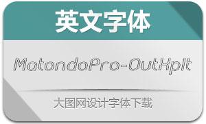MatondoPro-OutExpIt(英文字体)