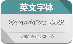 MatondoPro-OutlineIt(英文字体)