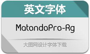 MatondoPro-Regular(英文字体)