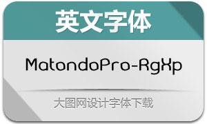 MatondoPro-RgExp(英文字体)