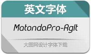 MatondoPro-RegularItalic(英文字体)