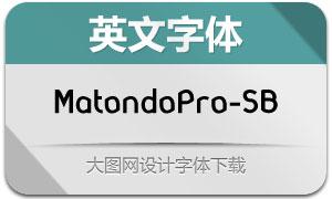 MatondoPro-SemiBold(英文字体)