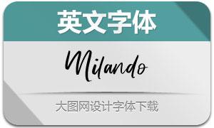Milando(英文字体)