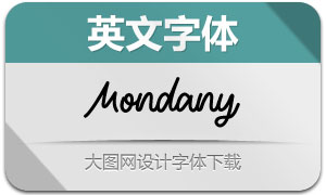 Mondany(英文字体)
