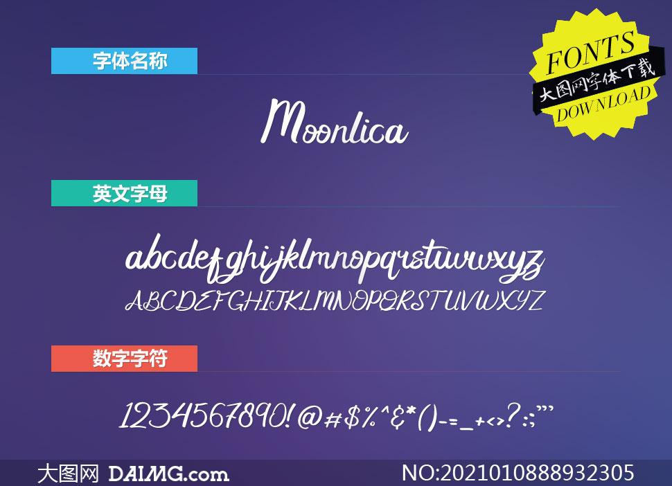Moonlica(英文字体)