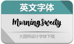 MorningSweety(英文字体)