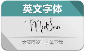 MostSense(英文字体)