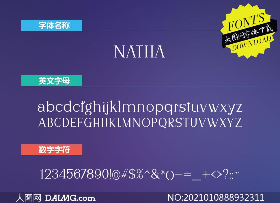 Natha(英文字体)