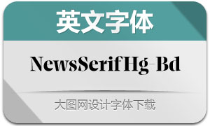 NewsSerifHuge-Bold(英文字体)