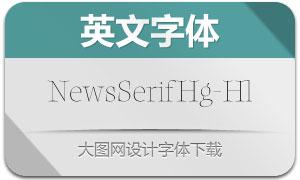 NewsSerifHuge-Hairline(英文字体)