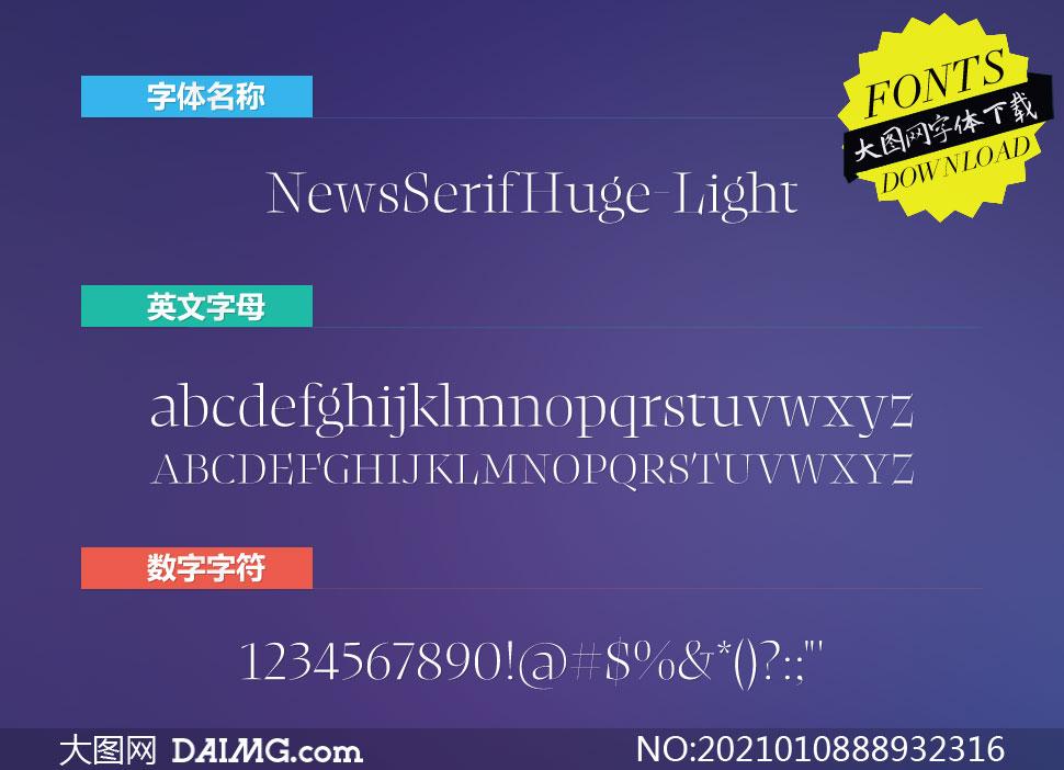 NewsSerifHuge-Light(英文字体)