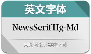 NewsSerifHuge-Medium(英文字体)
