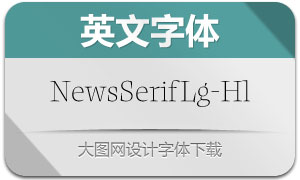 NewsSerifLarge-Hairline(英文字体)
