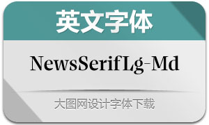 NewsSerifLarge-Medium(英文字体)