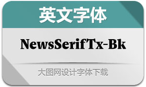 NewsSerifText-Black(英文字体)