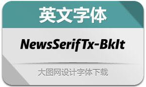 NewsSerifText-BlackItalic(英文字体)