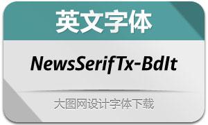 NewsSerifText-BoldItalic(英文字体)