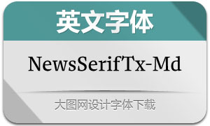 NewsSerifText-Medium(英文字体)